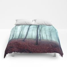 $5 Off + Free Shipping Today! No Noize - Silent Forest Comforters by Dirk Wuestenhagen Imagery | Society6
