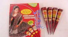 Vücut için 4pcs / lot Kına Geçici dövme Hindistan dövme tüp Yapıştır Koni Vücut Sanatı boyama ürünleri (Çin (Anakara))