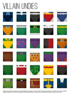 Identifying Villains By Their Underwear