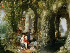 Jan Brueghel the Elder 'Feast of the Nymph Calypso for Odysseus 1616