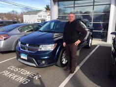 Here we have Joseph Morello picking up his 2015 Dodge Journey SXT from his sales consultant, Mike Robare! This just goes to show, just because it says KIA on our building, doesn't mean we don't sell and service all makes and models! We are so happy that we were able to help out Joseph in finding the SUV that he wanted! Welcome to the Gary Rome Kia family and we will see you at your first free oil change!  Www.GaryRomeKia.com or call us at (860) 253-4753