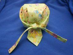 Baby Dew Rag Free Pattern & Tutorial - back view