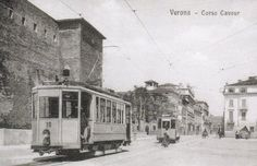 Rete tranviaria di Verona - Wikipedia Verona, Street View, Tours, Train, Painting, Outdoor, Den Den, Vintage, Italia