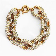 Pave Link Bracelet, Pave Bracelet, Crystal Bracelet, Statement Bracelet by Shamelessly Sparkly $20.90