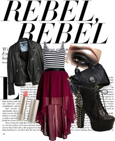 Rebel rebel, created by katvillaroman on Polyvore