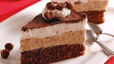 Bude sa rozplývať na jazyku: Jadranská torta - Pluska. European Dishes, Czech Recipes, Eclairs, Fancy Cakes, Something Sweet, No Bake Cake, Amazing Cakes, Chocolate Cake, Sweet Recipes