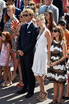 Majestic Pierre Casiraghi ! • Charlotte Casiraghi, Pierre Casiraghi and Beatrice...