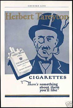 Herbert Tareyton Cigarettes Top Hat Monocle (1927)