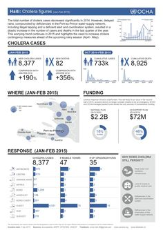 Haiti: Cholera figures (Jan-Feb 2015) #snapshot #poster #factsheet