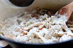 Chicken Pot Pie Recipe From Scratch, Chicken Pot Pie Recipe Pioneer Woman, Chicken Recipes, The Pioneer Woman, Cooking Chicken To Shred, How To Cook Chicken, 2 Quart Baking Dish, Yummy Eats, Casserole Dishes