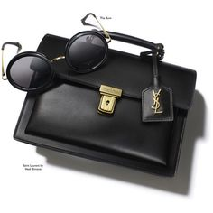 Final Touch | A sleek satchel and a pair of retro shades | Magazine|... (€270) ❤ liked on Polyvore featuring accessories, eyewear, sunglasses, bags, retro eyewear, retro glasses, retro style sunglasses, mod sunglasses and retro style glasses