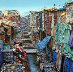 Jeff Gillette – Un Reino No Tan Mágico © Jeff Gillette | #Pintura | Cóctel Demente