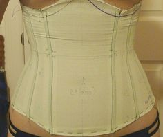 Making corset pattern from ducktape!