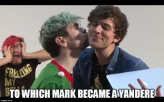 yandere mark   TO WHICH MARK BECAME A YANDERE   image tagged in memes,markiplier,jacksepticeye,septiplier   made w/ Imgflip meme maker