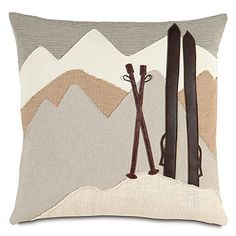Ski Lodge Pillows - Get ready for the Ski Season - Gift Ideas from Colorado Style - Colorado Style Ski Lodge Decor, Mountain Decor, Mountain Cabins, Mountain Homes, Condo Decorating, Eastern Accents, Reno, Decorative Pillows, Skiing