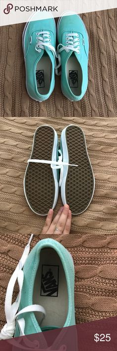 New Aqua Blue Vans These have been only 3 times. They are in really good condition. Willing to negotiate, make me an offer! Vans Shoes Sneakers