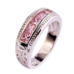 Find More Rings Information about lingmei Free Shipping Pink Topaz New Popular 925 Silver Ring Jewelry For Women Gift Size 6 7 8 9 10 Engagement Rings Wholesale,High Quality jewelry tiger,China jewelry ring storage Suppliers, Cheap jewelry accessories for women from LingMei jewelry Co., Ltd. on Aliexpress.com