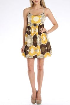 Chaudry Rachel Bubble Dress in Cocoa - Beyond the Rack