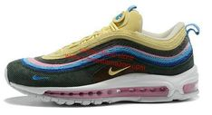 2018 Really Cheap Sean Wotherspoon X Nike Air Max 97 Sean Wotherspoon Gold  Pink Blue Black Sneaker 80968eceb