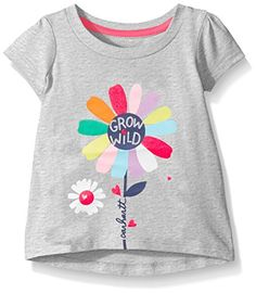 Carhartt Girls Grow Wild Tee Grey Heather 3 Months Baby Girl Tops, Baby Girl Dresses, Baby Boy Outfits, Trendy Baby Boy Clothes, Graphic Tees, Graphic Sweatshirt, Kids Patterns, Kid Styles, Jersey Shirt