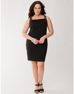 Plus Size Perforated Cross Back Dress by Lane Bryant