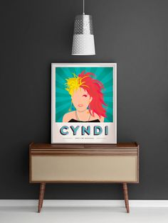 Cyndi Lauper Propaganda Poster - Popart, Pop Culture