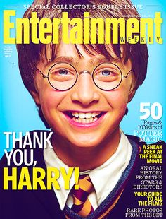 Entertainment Weekly cover as a tribute to Harry Potter