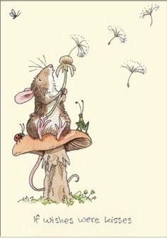 Анита Джерам (Anita Jeram) — художник-иллюстратор из Великобритании. С детства Анита любила рисовать, мечтала стать ветеринаром или смотрителем зоопарка. Она вышла замуж, родила троих детей, завела зверинец, закончила курсы иллюстратора и счастливо живёт в фермерском домике на берегу моря, недалеко от Манчестера.Может быть, поэтому она рисует лёгкие, трогательные и удивительно притягательные открытки.