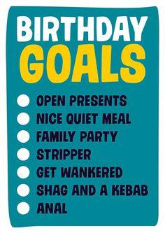 Birthday Goals Funny Birthday Card
