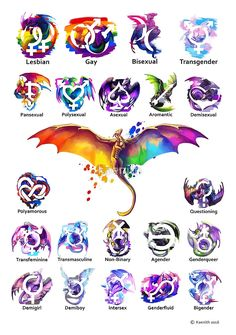 Pride Dragons - Version Two von kaenith