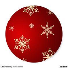 Christmas Runder Aufkleber