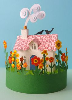 Artist Helen Musselwhite specializes in paper sculpture and collage. Her work is comprised of layered, intricately illustrated, folded and . Kirigami, Paper Cutting, Cut Paper, Ben E Holly, Diy And Crafts, Crafts For Kids, Paper Engineering, Paper Magic, Diy Papier