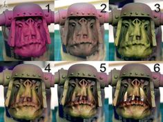When you think about face painting designs, you probably think about simple kids face painting designs. Many people do not realize that face painting designs go Warhammer Figures, Warhammer Paint, Warhammer Models, Warhammer 40k Miniatures, Warhammer Fantasy, Face Painting Tutorials, Face Painting Designs, Painting Techniques, Painting Tricks