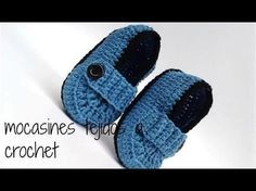 BOTITAS PARA BEBE EN CROCHET FACIL //crochet baby booties - YouTube