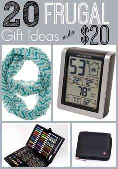 Looking for the perfect gift idea without having to spend a lot of money? Check out these 20 Frugal Gift Ideas Under $20 for Women, Men, Children and even ideas for the home!