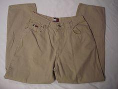 VTG-Tommy-Hilfiger-Mens-Jeans-Pants-Tan-34x32-(33x31)-Rare   #TommyHilfiger #ClassicStraightLeg