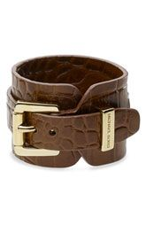Michael Kors Leather Wrap Cuff