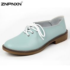 Women Shoes Genuine Leather Oxford Shoes For Women Flats Shoes Woman Moccasins Ballet Flats Ladies Shoes Zapatos Mujer 2016
