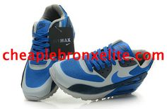 Grey Nike Air Max 90 Womens Royal Blue 333888 404