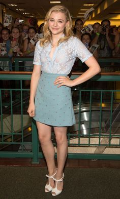 Chloe Grace Moretz In Summery Separates
