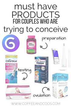 Must have products for couples who are trying to conceive. From preparation, to ovulation, to testing, these products will help you understand your fertility. If you& trying to get pregnant, this is a must read! Trying To Get Pregnant, Pregnant Mom, Getting Pregnant Tips, Conceiving, First Health, Trying To Conceive, After Baby, First Time Moms, Baby Hacks