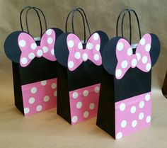 Minnie Mouse inspiré favor sacs ensemble de 12 par FifteenSixteen