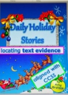 Comprehension Passages Locating Text Evidence in Christmas & Holiday Stories Christmas Text, Christmas Holidays, Christmas Ideas, Reading Comprehension, Reading Strategies, Christmas Language Arts, Text Evidence, Common Core Ela, Spelling Words