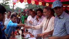 নোয়াখালীর বেগমগঞ্জে প্রীতি ফুটবল ম্যাচ বিবাহিত বনাম অবিবাহিত