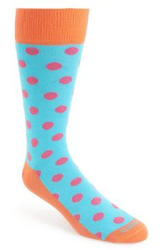 Lorenzo Uomo Socks Big Dot Organic Cotton Blend