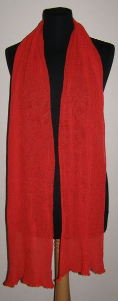 ORANGE RED SCARF  Icelandic production by HuldaGK on Etsy, $15.50