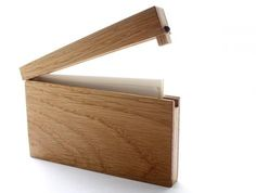 Great way to store impressive business cards! Wood Business Card Case.