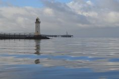 Irish lighthouse reflecting on the waters of the River Shannon in Ireland   Flickr - Photo Sharing!