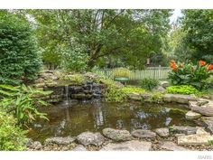 Beautiful greenery to accent this pond | 13260 Romany Way Court, Saint Louis, MO