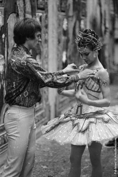 Rudolf Nureyev and Doreen Wells before a performance for the Ballet Hongroise. (Photo by Victor Blackman/Express/Getty Images). 1st July 1966.  Ballet Beautiful | ZsaZsa Bellagio - Like No Other